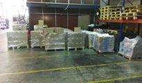 Imagen del almacén donde se han incautado 1,3 millones de carteles, dípticos y folletos del referéndum. / PERIODICO (ACN)