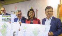 Dolors López, portavoz del PP en el Ayuntamiento de Lérida junto a otros concejales.