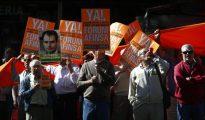Manifestación de los afectados de Fórum Filatélico y Afinsa