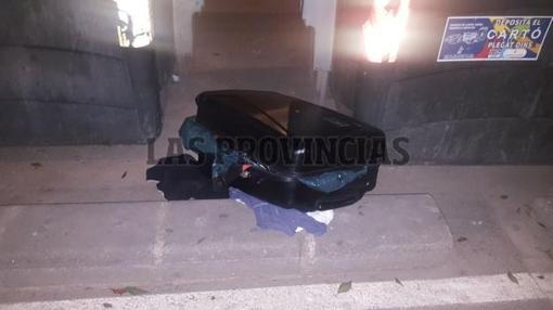 Imagen de la maleta en la que se han hallado los restos humanos- LAS PROVINCIAS