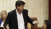 El portavoz de Ciudadanos en el Parlamento andaluz