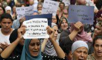 "Musulmanas residentes en Cataluña con ""derecho a decidir""."