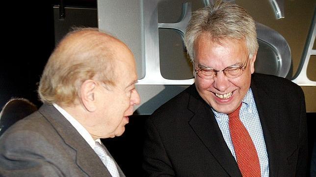 Jordi Pujol y Felipe González.