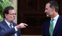 Mariano Rajoy y el Rey de España, Felipe VI.