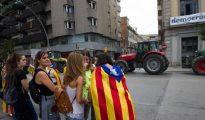 Imagen de la tractorada en calles catalanas