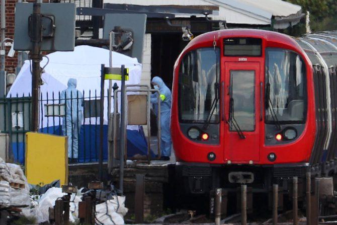 El vagón del metro donde se ha producido el atentado terrorista.
