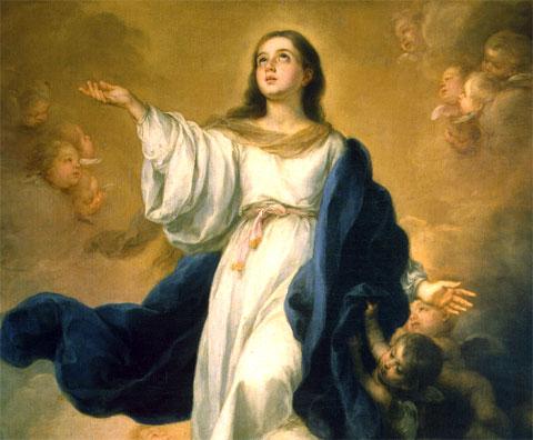 Detalle de La Asunción de la Virgen, de Murillo