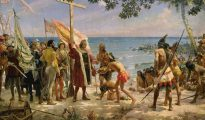Cristóbal Colón llega a América