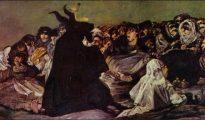 Pinturas negras de Goya: El Aquelarre (1823).