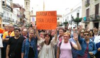 Concentración en Calella (La Vanguardia)