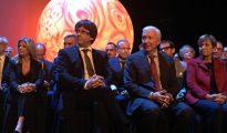 El presidente de la Generalitat, Carles Puigdemont, en el acto de Cecot de este lunes.