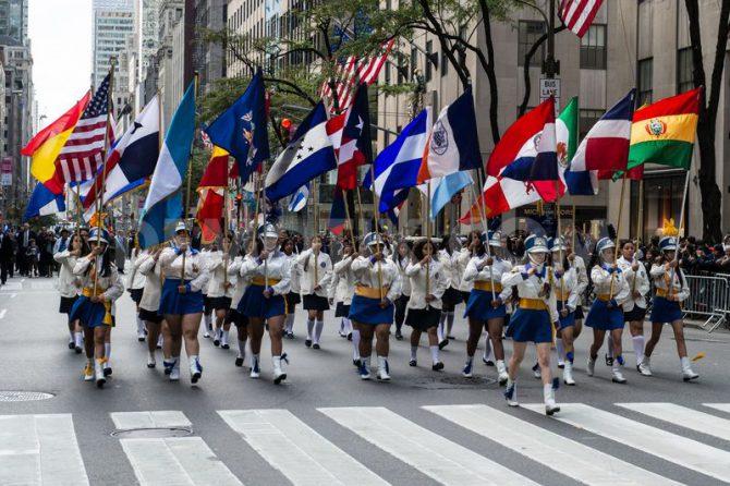 Desfile del Día de la Hispanidad en Nueva York.