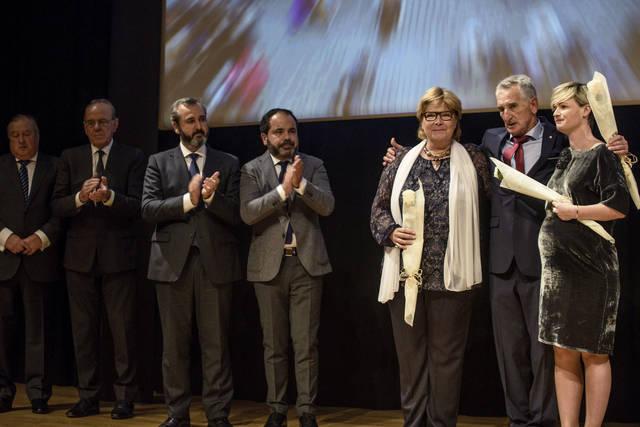 Acto 'Memoria y reconocimiento al empresariado vasco' que se ha celebrado este viernes