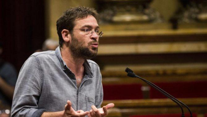 El lider de Podem Catalunya, Albano Dante Fachin.