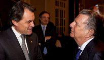 Artur Mas y el conde de Godó