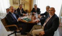 Imagen de la reunión mantenida este jueves en Valencia (ABC)