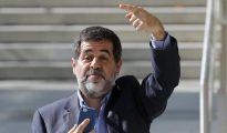 Jordi Sanchez, presidente de la ANC, el pasado día 16 en la Audiencia Nacional