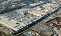 Vista aérea de la fábrica de Seat en Martorell