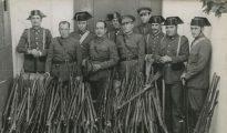 Armas y municiones recogidas por la Guardia Civil y los Carabineros durante la proclamación del Estado Catalán