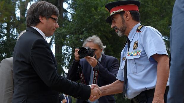 Carles Puigdemont y Josep Lluis Trapero