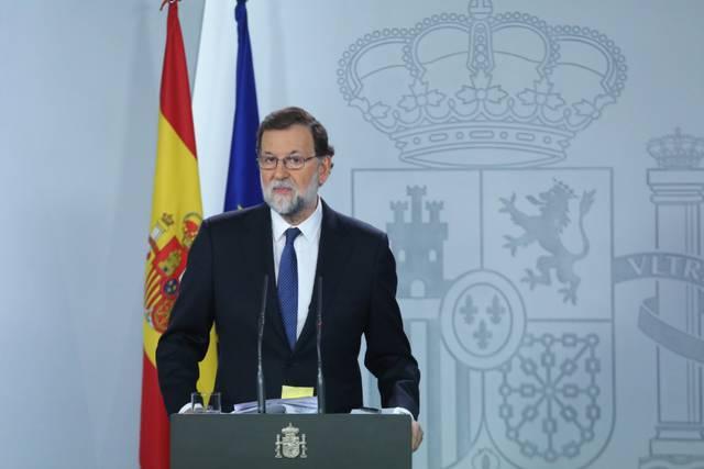 Mariano Rajoy durante la comparecencia.@marianorajoy