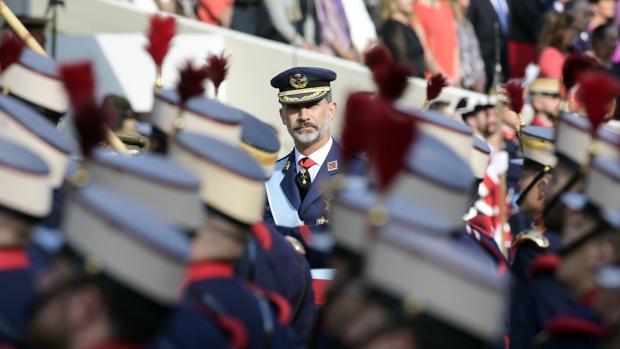 El Rey, en el desfile del Día de la Fiesta Naciona