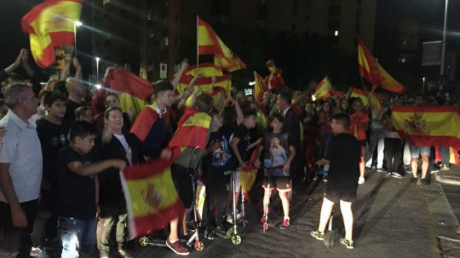 Concentración de apoyo al cuartel de la Guardia Civil en Sant Andreu de la Barca
