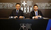 Bertomeu y Messi.