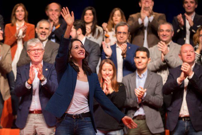 Inés Arrimadas, en un acto de Ciudadanos