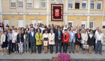 Inauguración institucional del curso escolar en el Instituto Marqués de Villena de Marcilla, el pasado mes de septiembre (ABC)