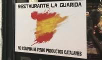 """Un restaurante de Madrid anuncia a sus clientes que """"no compra ni vende productos catalanes"""""""