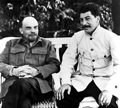 Lenin y Stalin.
