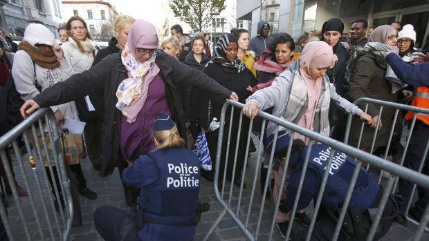 Musulmanes en Bélgica.