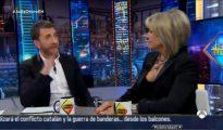 Julia Otero durante un momento de su conversación con Pablo Motos en «El Hormiguero»