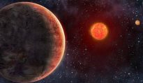 Representación artística del planeta GJ 273b, similar a la Tierra y hacia el que un equipo de astrónomos acaba de emitir un mensaje-Danielle Futselaar/METI