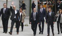 Los miembros del Gobierno catalán en prisión preventiva