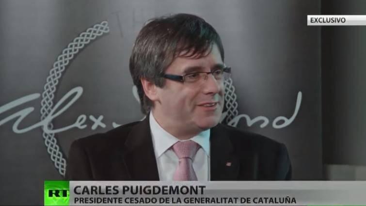 Puigdemont Concede Una Entrevista A La Cadena RT Envuelta