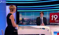 Imagen de la entrevista a Carles Puigdemont en la televisión belga RTBF.