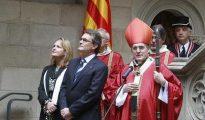 El Cardenal Sistach, en una imagen de archivo junto a Artur Mas