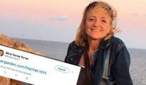 Silvia Cortés Torres, responsable de recursos humanos de Nestlé España, con un tuit que recomienda una 'app' para eludir a la policía / Crónica Global