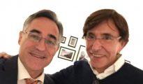 La foto de Ramón Tremosa y Elio di Rupo, ex primer ministro belga - Twitter: @ramontremosa