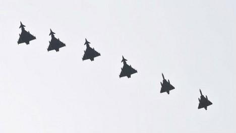 Seis cazas Eurofighter del Ejército del Aire / MDE