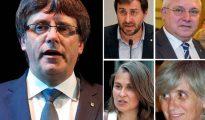 Carles Puigdemont y los exconsejeros en Bélgica