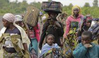 Imagen de un grupo de desplazados de la República Democrática del Congo, en 2012