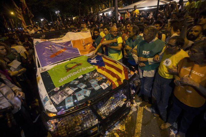 Disturbios en Cataluña.