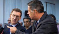 Xavier García Albiol, y el presidente gallego, Alberto Núñez Feijóo, visitan el Centro Cultural Galego Saudade