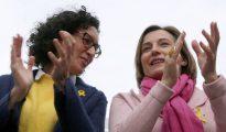 Acto electoral de ERC en Badalona (Barcelona).