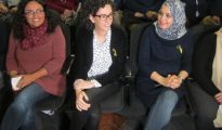 Marta Rovira y a su izquierda Najat Driouech, candidata de ERC.