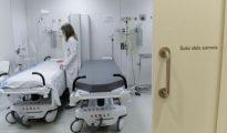 Una sanitaria en el Hospital Universitario Vall d'Hebron, el mayor de Cataluña