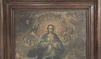 Inmaculada, pintura mural del conjunto de Sijena que estaba extraviada.